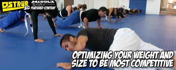 Optimizing your weight and size to be most competitive