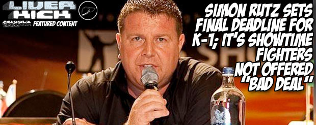"""Simon Rutz sets final deadline for K-1; It's Showtime fighters not offered """"bad deal"""""""