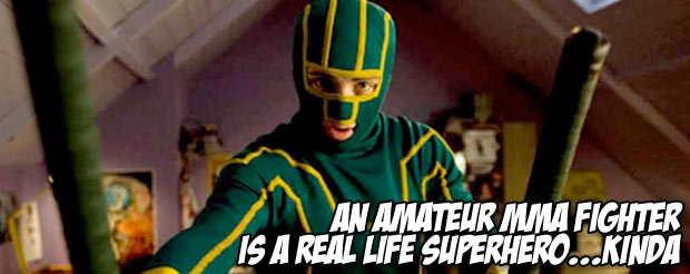 An amateur MMA fighter is a real life superhero…Kinda