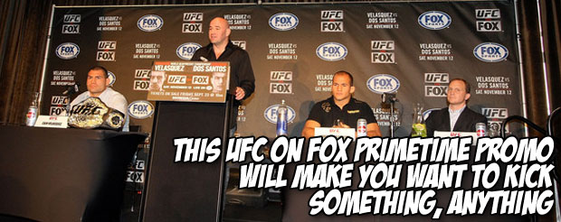 This UFC on FOX primetime promo will make you want to kick something, anything