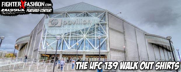 The UFC 139 walk out shirts