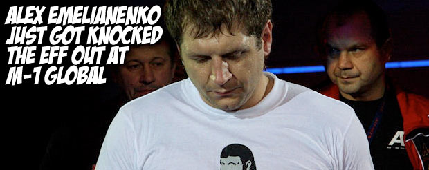 Alex Emelianenko just got knocked the eff out at M-1 Global