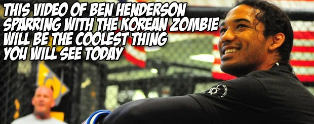 This video of Ben Henderson sparring with The Korean Zombie will be the coolest thing you will see today