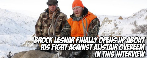 Brock Lesnar finally opens up about his fight against Alistair Overeem in this interview