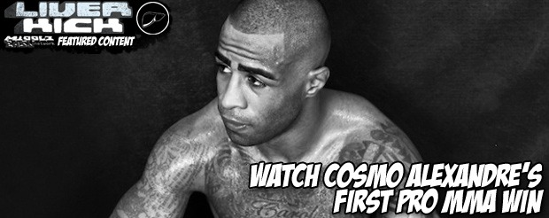 Watch Cosmo Alexandre's first pro MMA win