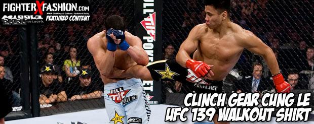 Clinch Gear Cung Le UFC 139 walkout shirt