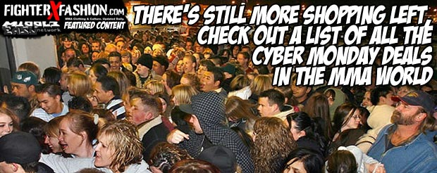 There's still more shopping left, check out a list of all the Cyber Monday deals in the MMA world