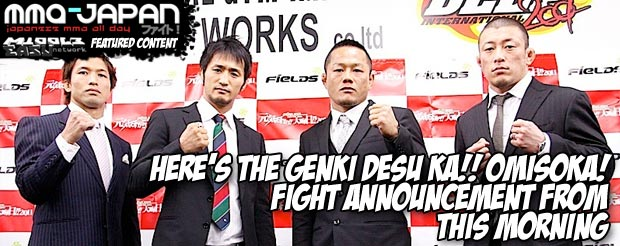 Here's the Genki Desu Ka!! Omisoka! Fight Announcement from this morning