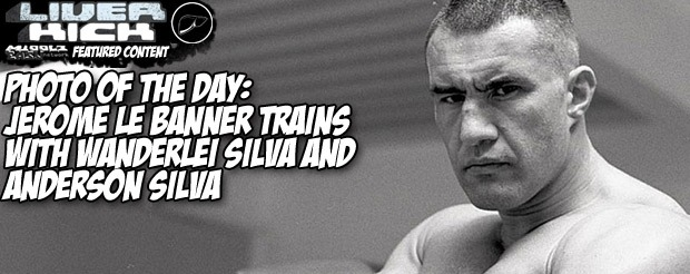 Photo of the Day: Jerome Le Banner trains with Wanderlei Silva and Anderson Silva