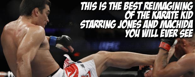 This is the best reimagining of The Karate Kid starring Jones and Machida you will ever see