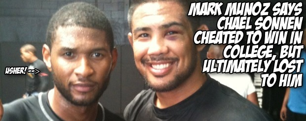 Mark Munoz says Chael Sonnen cheated to win in college, but ultimately lost to him