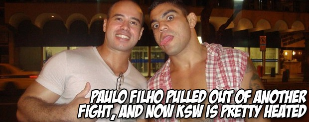 Paulo Filho pulled out of ANOTHER fight, and now KSW is pretty heated
