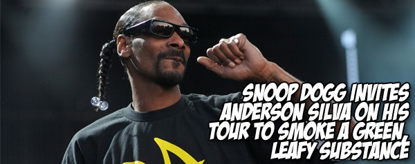 Snoop Dogg invites Anderson Silva on his tour to smoke a green, leafy substance