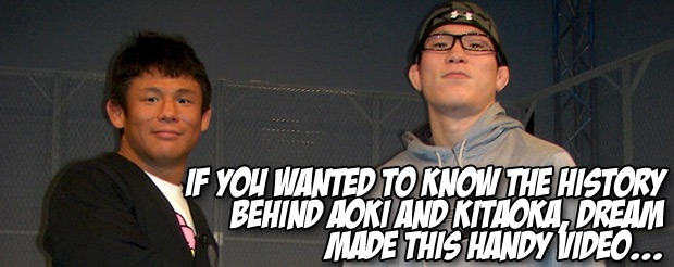 If you wanted to know the history behind Aoki and Kitaoka, DREAM made this handy video…