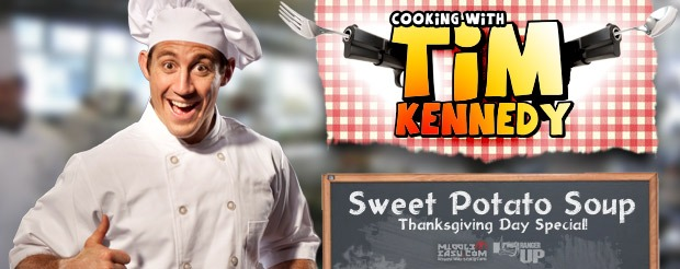 Cooking with Tim Kennedy: Thanksgiving Sweet Potato Soup