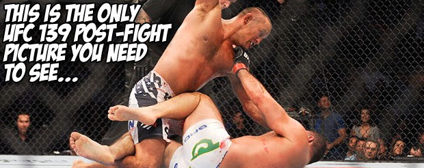 This is the only UFC 139 post-fight picture you need to see…