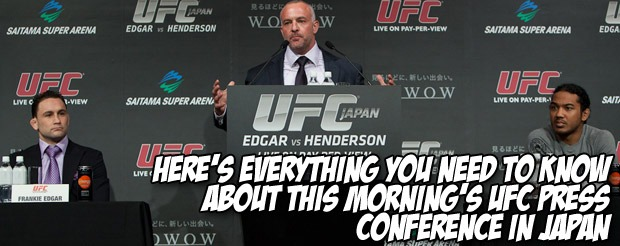 Here's everything you need to know about this morning's UFC press conference in Japan