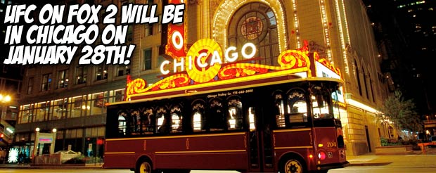UFC on Fox 2 will be in Chicago on January 28th!