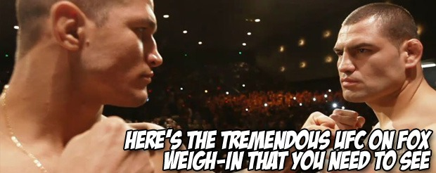 Here's the tremendous UFC on FOX weigh-in that you need to see