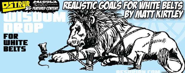 Realistic Goals for White Belts by Matt Kirtley