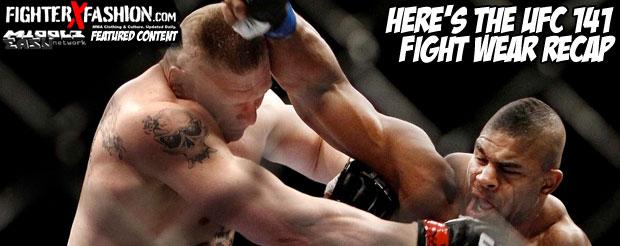 Here's the UFC 141 fight wear recap