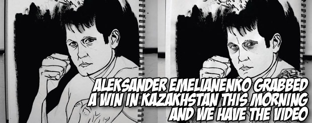 Aleksander Emelianenko grabbed a win in Kazakhstan this morning and we have the video