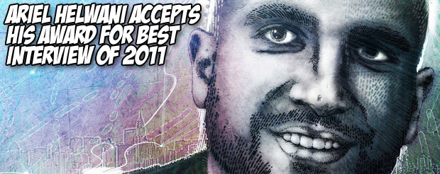 Ariel Helwani accepts his award for best interview of 2011