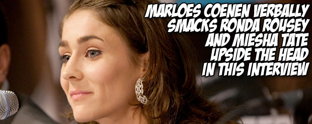Marloes Coenen verbally smacks Ronda Rousey and Miesha Tate upside the head in this interview