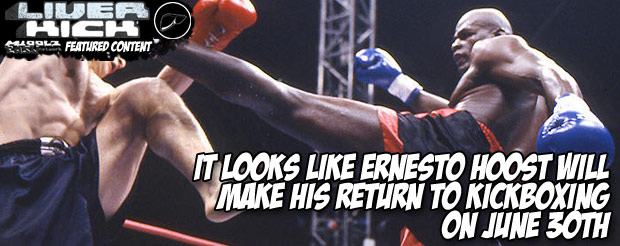 It looks like Ernesto Hoost will make his return to kickboxing on June 30th