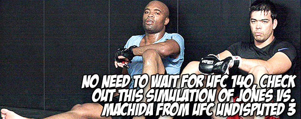 No need to wait for UFC 140, check out this simulation of Jones vs. Machida from UFC Undisputed 3