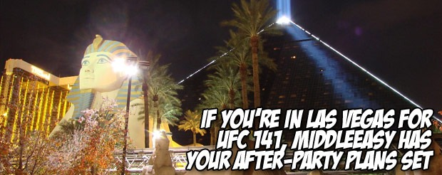 If you're in Las Vegas for UFC 141, MiddleEasy has your after-party plans set