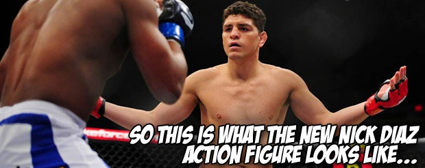 So this is what the new Nick Diaz action figure looks like…