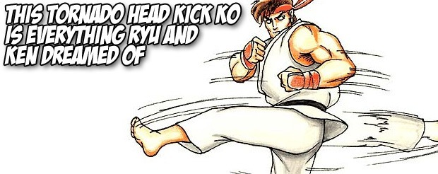 This tornado head kick KO is everything Ryu and Ken dreamed of