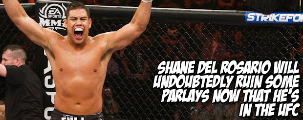 Shane del Rosario will undoubtedly ruin some parlays now that he's in the UFC