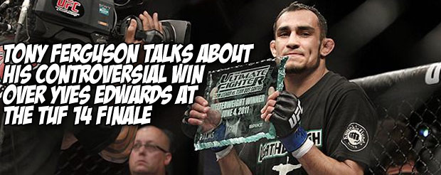 Tony Ferguson talks about his controversial win over Yves Edwards at the TUF 14 finale