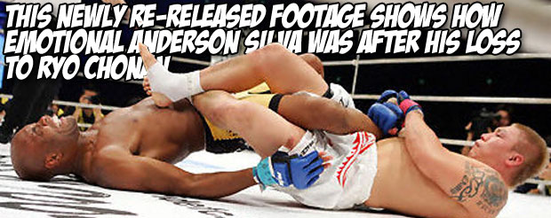 This newly re-released footage shows how emotional Anderson Silva was after his loss to Ryo Chonan