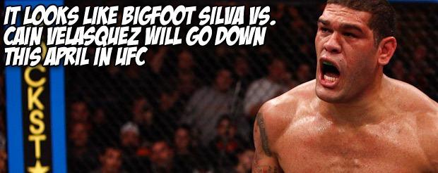 It looks like Bigfoot Silva vs. Cain Velasquez will go down this April in UFC