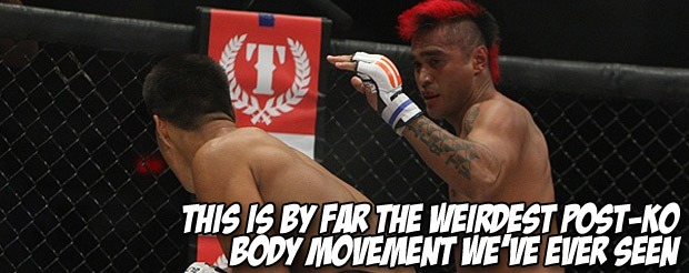 This is by far the weirdest post-KO body movement we've ever seen