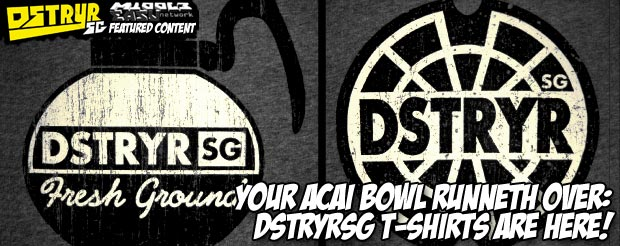 Your acai bowl runneth over: DstryrSG t-shirts are here!