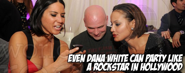 Even Dana White can party like a rockstar in Hollywood