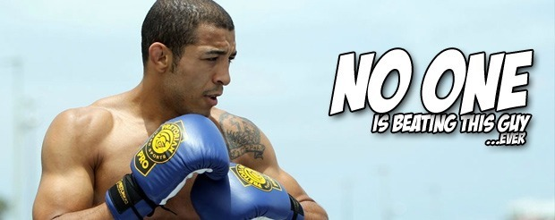 Jose Aldo is a glowing supreme being in the featherweight division