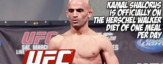 Kamal Shalorus is officially on the Herschel Walker diet of one meal per day