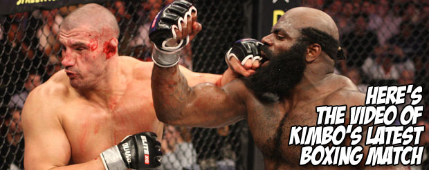 Here's the video of Kimbo's latest boxing match