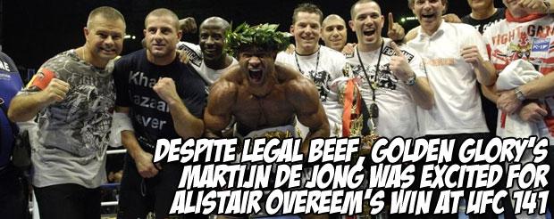Despite legal beef, Golden Glory's Martijn de Jong was excited for Alistair Overeem's win at UFC 141