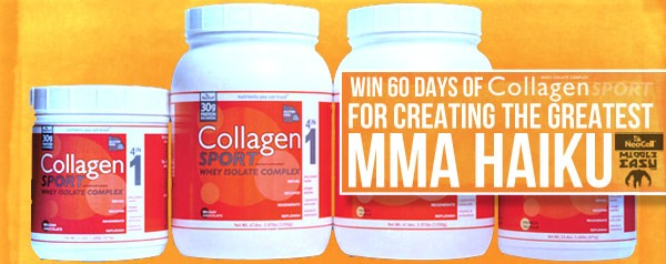Win 60 days of Collagen Sport for creating the greatest MMA haiku ever
