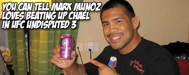 You can tell Mark Munoz loves beating up Chael in UFC Undisputed 3