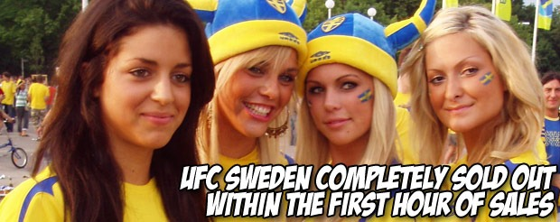 UFC Sweden completely sold out within the first hour of sales