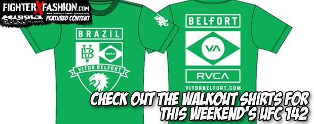 Check out the walkout shirts for this weekend's UFC 142