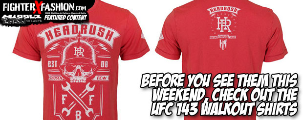 Before you see them this weekend, check out the UFC 143 walkout shirts