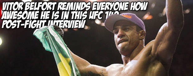 Vitor Belfort reminds everyone how awesome he is in this UFC 142 post-fight interview